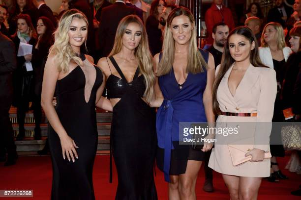 Chloe Sims Lauren Pope Chloe Meadows and Courtney Green attend the ITV Gala held at the London Palladium on November 9 2017 in London England