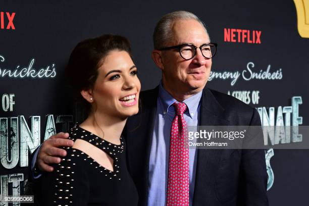Chloe Sonnenfeld and Barry Sonnenfeld attends A Series Of Unfortunate Events Season 2 Premiere at Metrograph on March 29 2018 in New York City