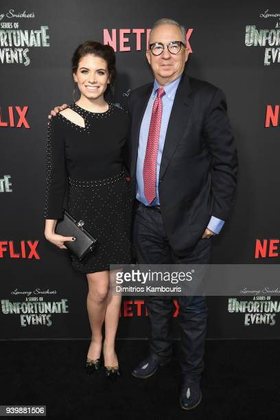 Chloe Sonnenfeld and Executive Producer Barry Sonnenfeld attend the Netflix Premiere of A Series of Unfortunate Events Season 2 on March 29 2018 in...