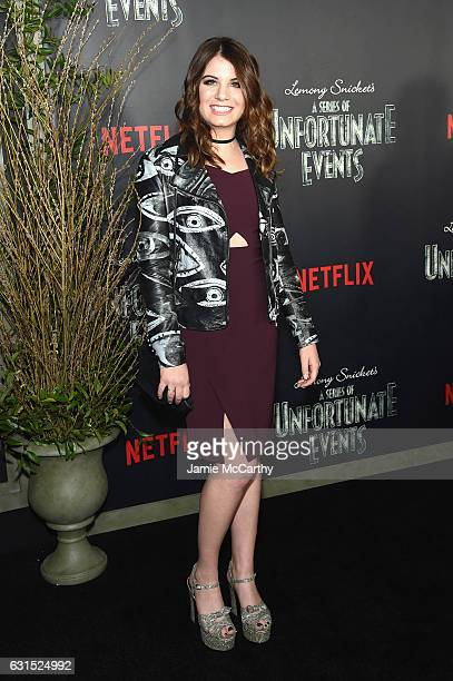 Chloe Sonnenfeld attends the Lemony Snicket's A Series Of Unfortunate Events Screening at AMC Lincoln Square Theater on January 11 2017 in New York...