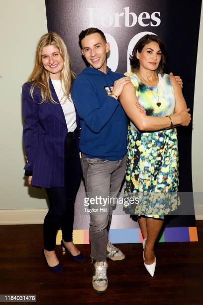 Chloe Sorvino Adam Rippon and Jessica Iclisoy attend the 2019 Forbes 30 Under 30 Summit on October 28 2019 at Detroit Masonic Temple in Detroit...