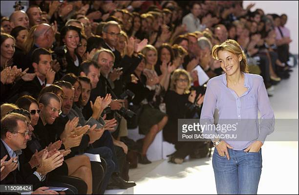 Chloe spring-summer 2004 ready-to-wear collection in Paris, France on October 11, 2003 - Designer Phoebe Philo.