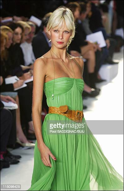 Chloe spring-summer 2004 ready-to-wear collection in Paris, France on October 11, 2003.