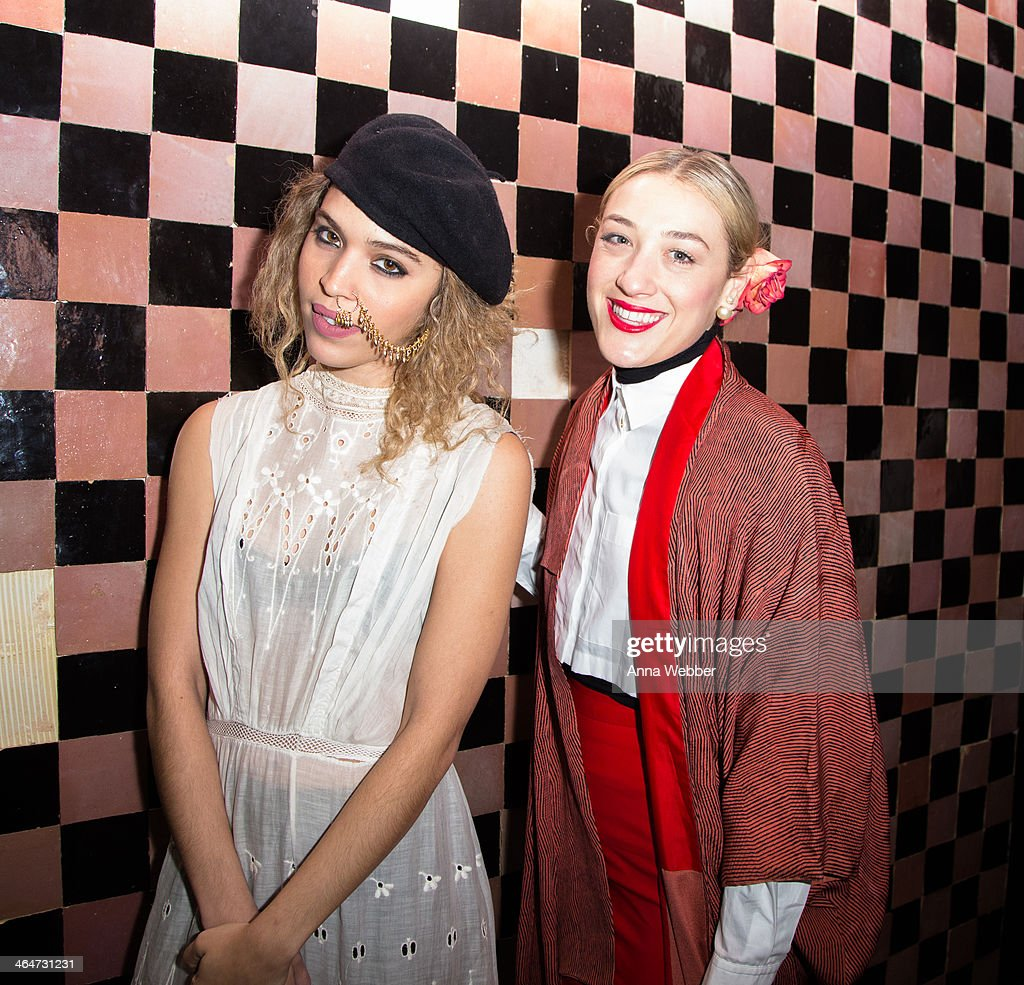 Chloe Wade and DJ Mia Moretti attend Ashley Smith + RVCA - Collaboration Launch Dinner Hosted By RVCA Founder PM Tenore And Model Ashley Smith at Acme on January 23, 2014 in New York City.