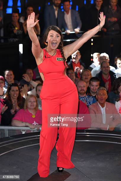 Chloe Wilburn enters the Big Brother Timebomb house at Elstree Studios on May 12 2015 in Borehamwood England