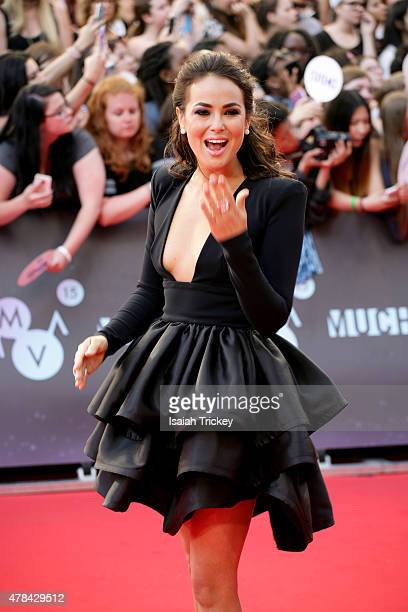 Chloe Wilde arrives at the 2015 MuchMusic Video Awards at MuchMusic HQ on June 21 2015 in Toronto Canada