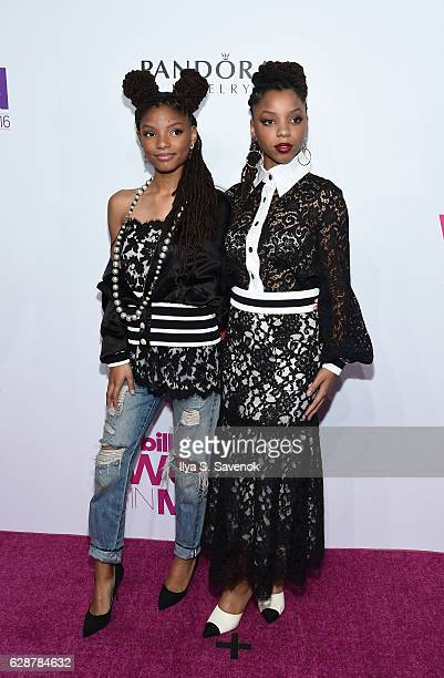 Chloe X Halle attend Billboard Women In Music 2016 airing December 12th On Lifetime at Pier 36 on December 9 2016 in New York City