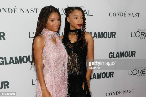 Chloe x Halle attend the 2017 Glamour Women of the Year Awards at Kings Theatre on November 13 2017 in New York City