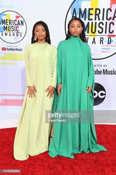 Chloe X Halle attend the 2018 American Music Awards at Microsoft Theater on October 9 2018 in Los Angeles California