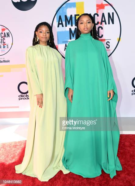 Chloe X Halle attends the 2018 American Music Awards at Microsoft Theater on October 9 2018 in Los Angeles California