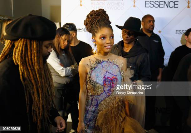 Chloe X Halle attens the 2018 Essence Black Women In Hollywood Oscars Luncheon at Regent Beverly Wilshire Hotel on March 1 2018 in Beverly Hills...