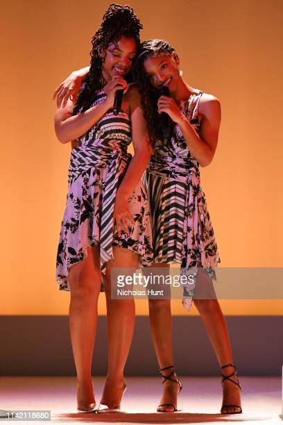 Chloe x Halle perform during the 10th Annual DVF Awards at Brooklyn Museum on April 11 2019 in New York City