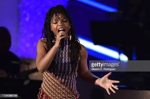 Chloe X Halle perform onstage at AllStar Lineup Pays Tribute At 'Aretha A GRAMMYCelebration For The Queen Of Soul at The Shrine Auditorium on...