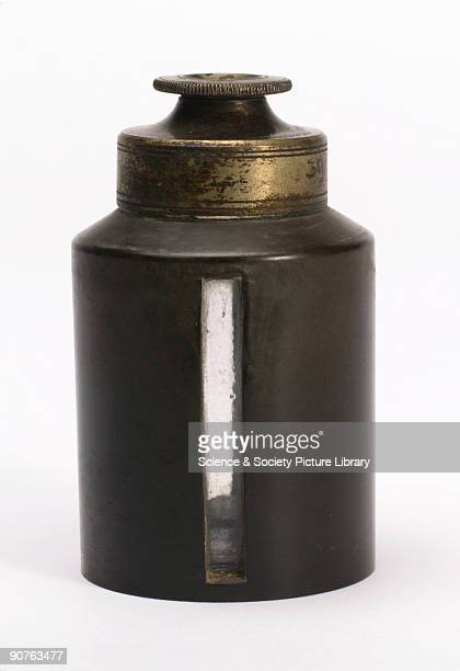 Chloroform bottle with metal cap and vulcanite jacket with viewing windows allowing the contents to be seen The first successful operation on a...