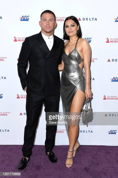 Chnning Tatum and Jessie J attend MusiCares Person of the Year honoring Aerosmith at West Hall at Los Angeles Convention Center on January 24 2020 in...