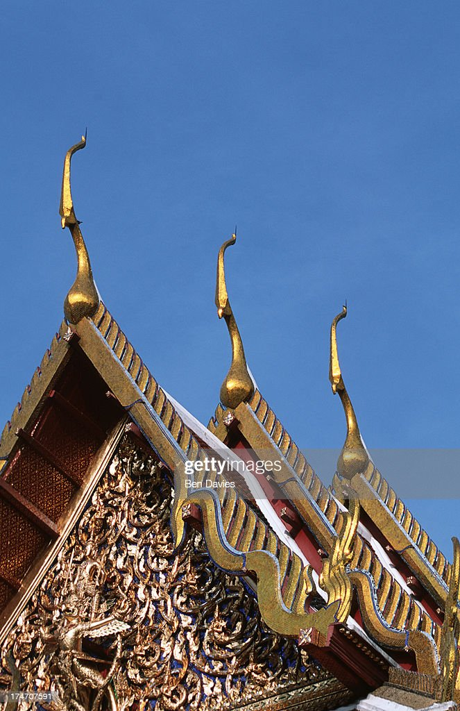 cho fas or roof finials at the spectacular temple complex of wat phra kaeo temple - Roof Finials