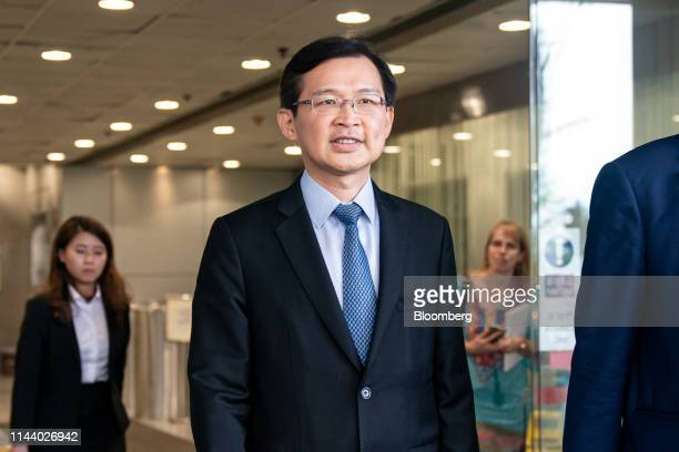 Cho Kwai-chee, founder of Town Health International Medical Group Ltd. And former director of Convoy Global Holdings Ltd., leaves the Eastern...