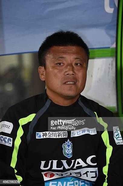Cho Kwi Jae manager of Shonan Bellmare during the J League second division match between FC Gifu and Shonan Bellmare at BMW Stadium Hiratsuka on...