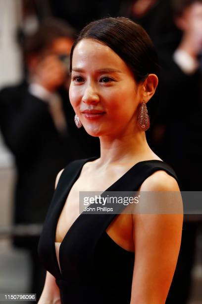 Cho YeoJeong attends the screening of Parasite during the 72nd annual Cannes Film Festival on May 21 2019 in Cannes France