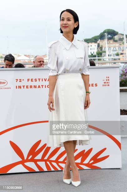 Cho Yeojeong attends thephotocall for Parasite during the 72nd annual Cannes Film Festival on May 22 2019 in Cannes France