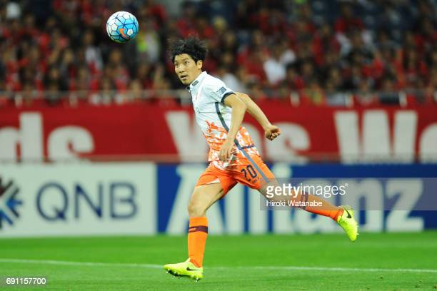 Cho yonghyung of Jeju United FC in action during the AFC Champions League Round of 16 match between Urawa Red Diamonds and Jeju United FC at Saitama...