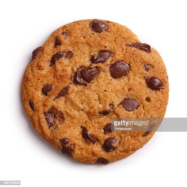 Schokolade-Chip-Cookie, isoliert Clipping Path