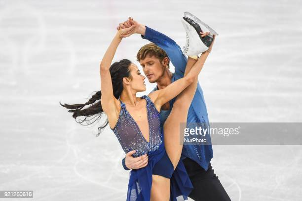 Chock Madison and Bates Evan of United States competing in free dance at Gangneung Ice Arena Gangneung South Korea on February 20 2018