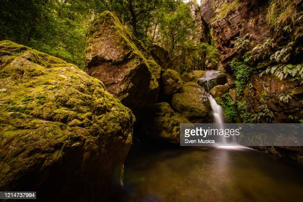 chockstone falls , fanie botha hiking trail south africa - mpumalanga province stock pictures, royalty-free photos & images