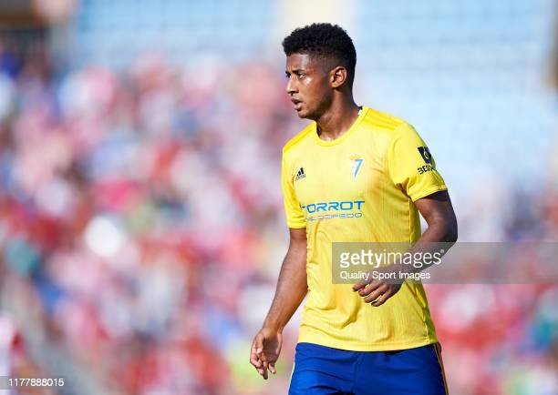 Choco Lozano of Cadiz looks on during the La Liga SmartBank match between UD Almeria and Cadiz at Estadio de los Juegos Mediterráneos on September...