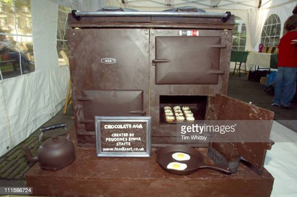 Chocolate Aga during Aga Launches Brand New Chocolate Colored Oven Photocall at Soho Square in London Great Britain