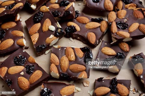 WASHINGTON DC Chocolate Almond Cherry Bark photographed in Washington DC