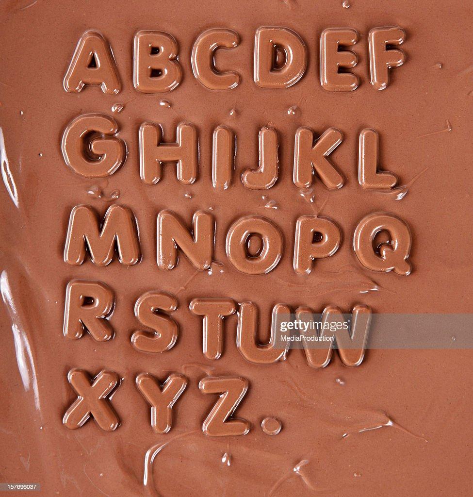 Alfabeto de Chocolate : Foto de stock