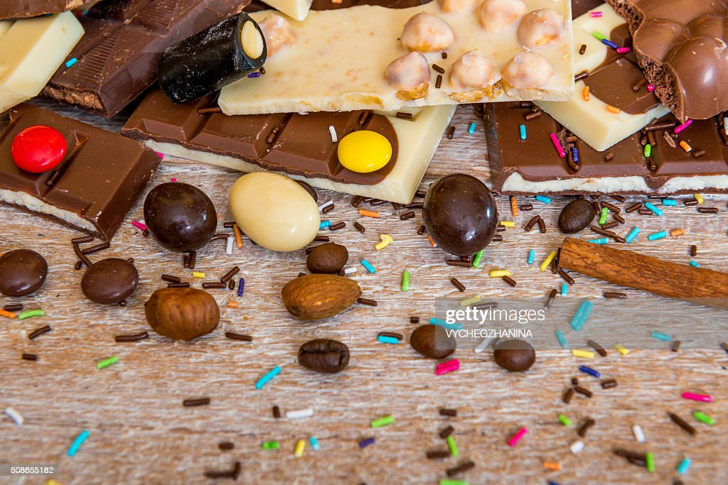 chocolate and candies : Stock Photo