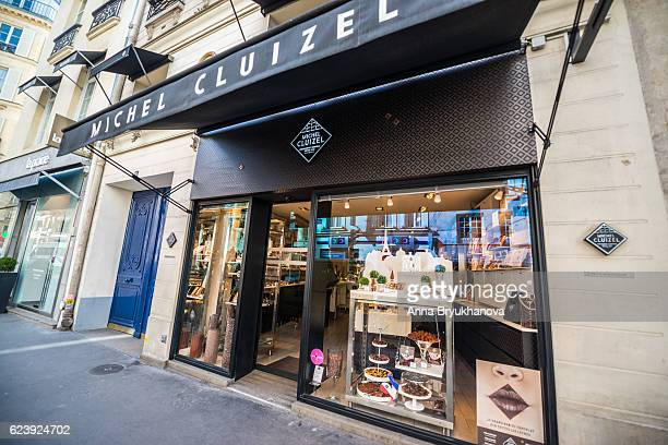 Chocolate and candy shop in Paris, France