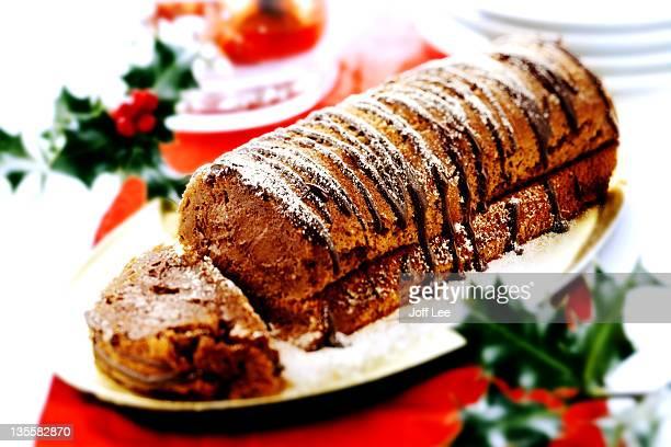 Chocolate and chestnut christmas log