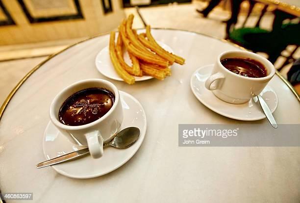 Chocolate and churros San Gines Chocolateria