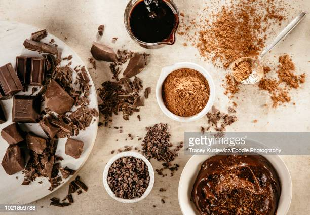 chocolate and cocao - chocolate mousse stock pictures, royalty-free photos & images
