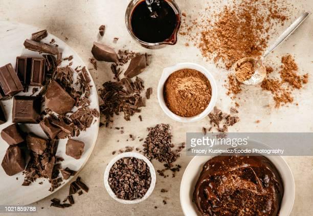 chocolate and cocao - チョコレート ストックフォトと画像