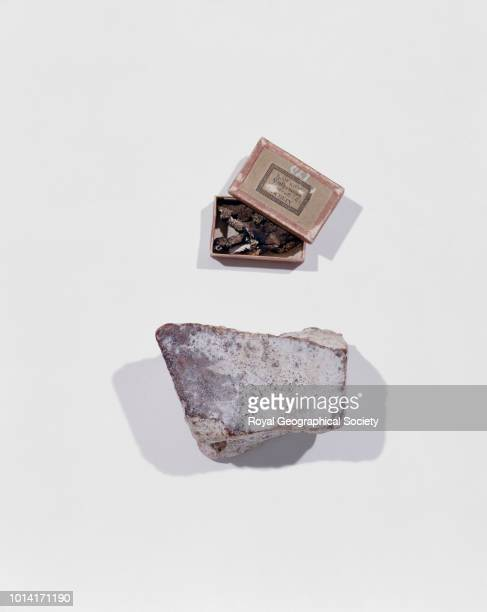 Chocolate and Tripe de Roche This image shows a piece of chocolate left at Port Leopold by Sir James Ross in 1849 which was brought back by AH...