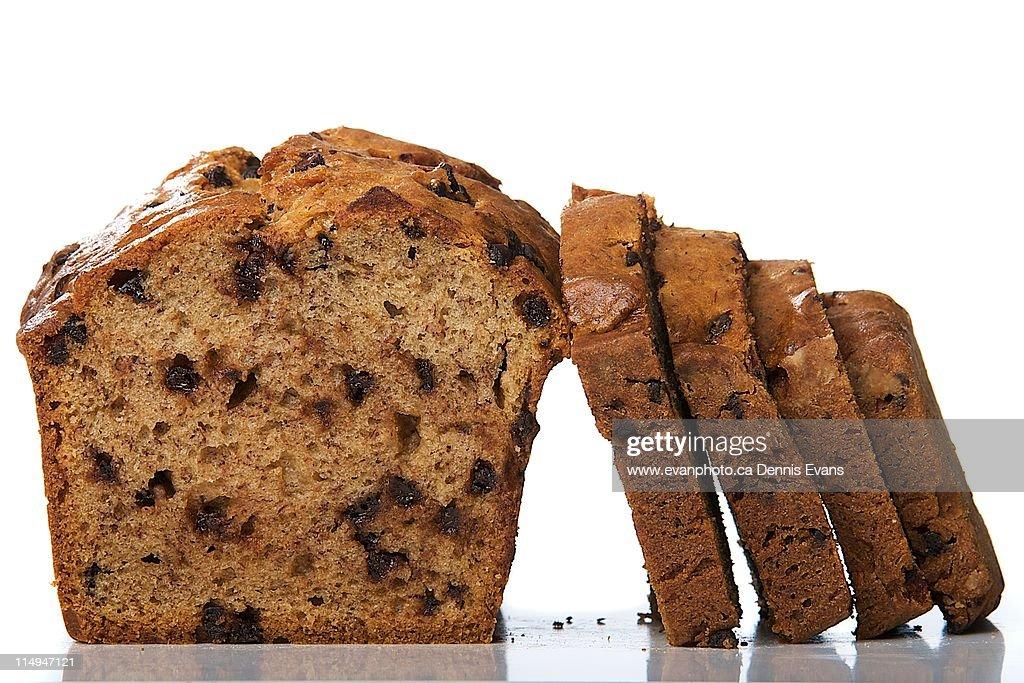 Chocolate Banana Bread : Stock Photo