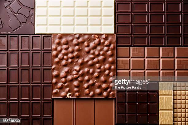 Chocolate bar assortment pattern background wallpaper