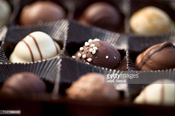 chocolate box - box of chocolate stock pictures, royalty-free photos & images