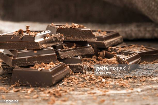 chocolate broken macrophotography backgrounds - part of stock pictures, royalty-free photos & images
