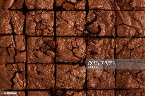 chocolate brownie cake background - brownie stock pictures, royalty-free photos & images