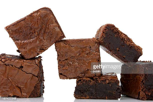 chocolate brownies - brownie stock pictures, royalty-free photos & images