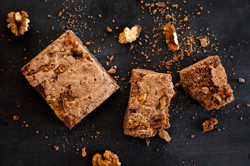 Chocolate brownies with walnuts - gettyimageskorea