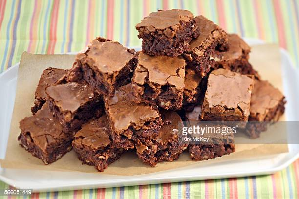Chocolate brownies woth nuts