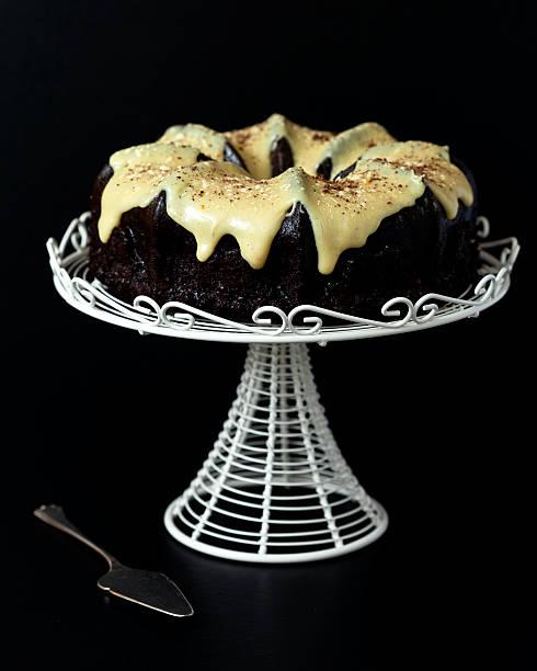 Chocolate Bundt Cake With Yellow Glaze Wall Art