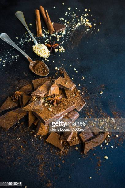 Chocolate, cacao and spices