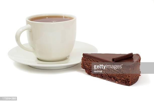 chocolate cake and cup